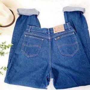 Vintage Lee High Rise Distressed Western Jeans 753